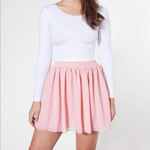 """American Apparel"" off WHITE Chiffon short skirt"